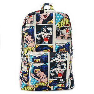 Loungefly x Wonder Woman Comic Print Backpack
